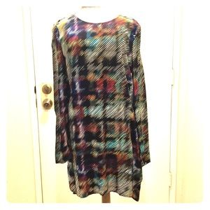 Wayf tunic dress multi color and print high/low